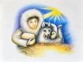 Eskimo-an-der-Krippe